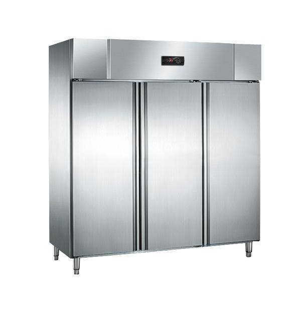 Large capacity double temperature stainless steel freezer