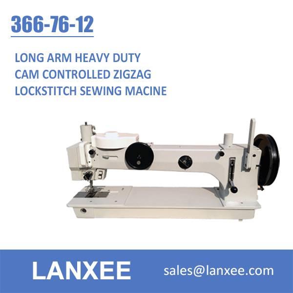 Lanxee 366-76-12 Single Needle Lockstitch Cam Control Zigzag Sail Sewing Machine