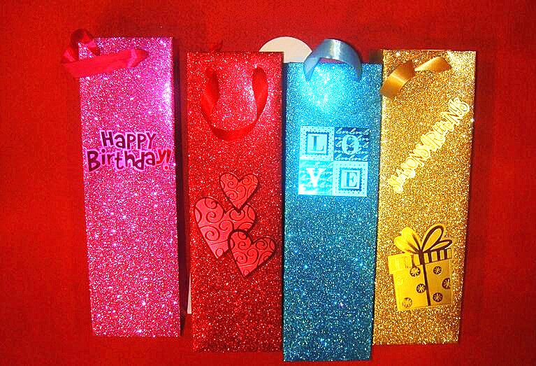 Glitter hot-stamping gift paper bags