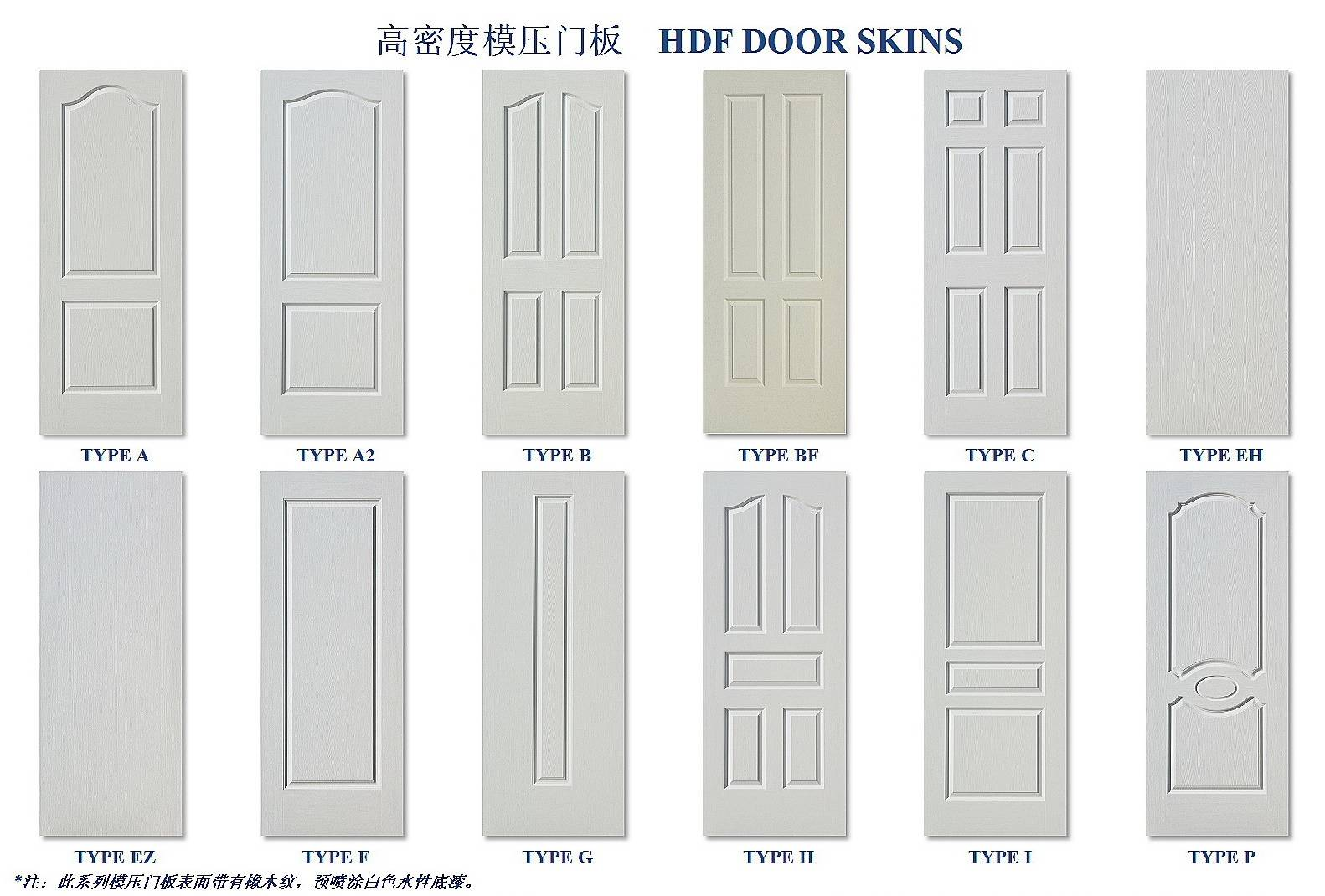 Hdf Moulded Door Skinwhite Primedwood Veneer Xiamen Reshine