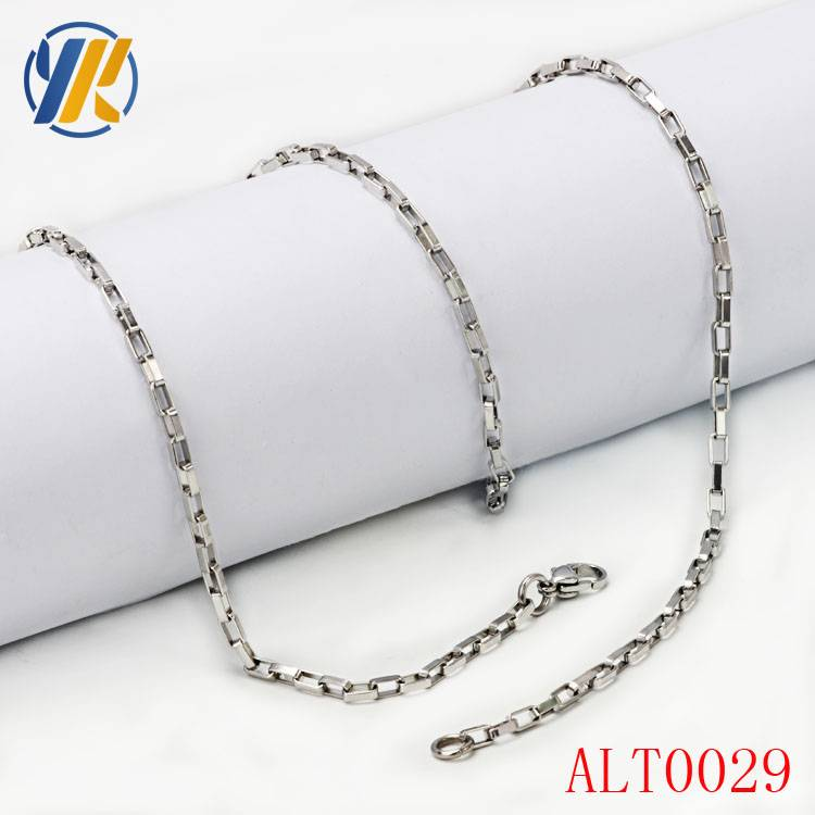 Necklace Accessories Stainless Steel Box Chain