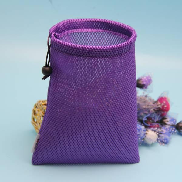 wholesale colorful mesh drawstring bag