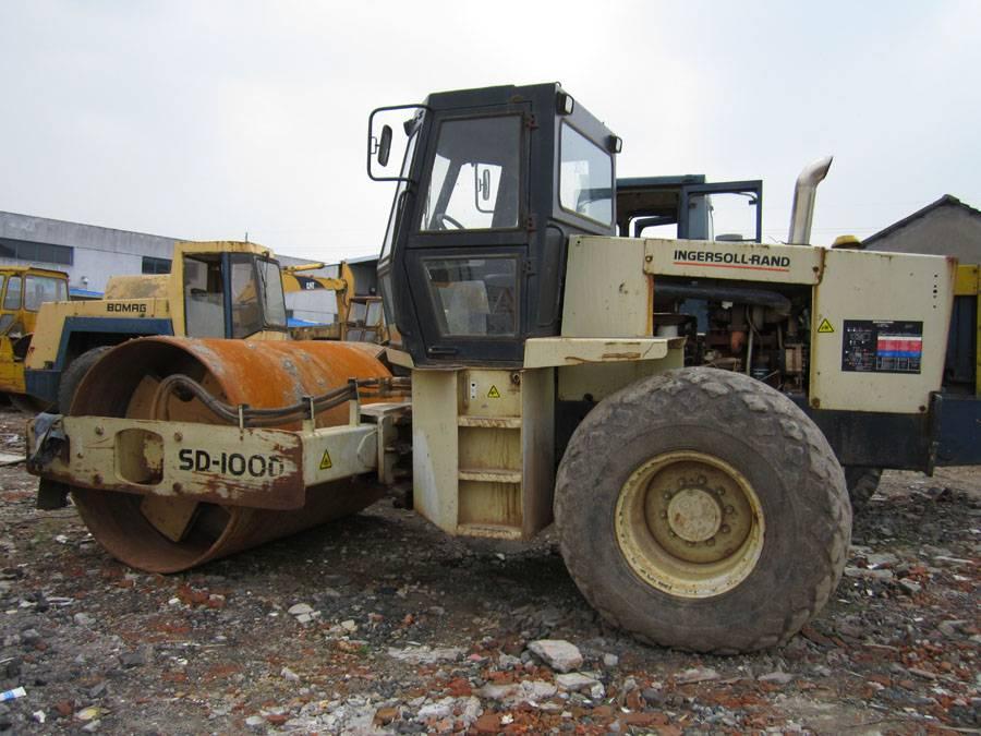 used road roller ingersoll rand sd100d