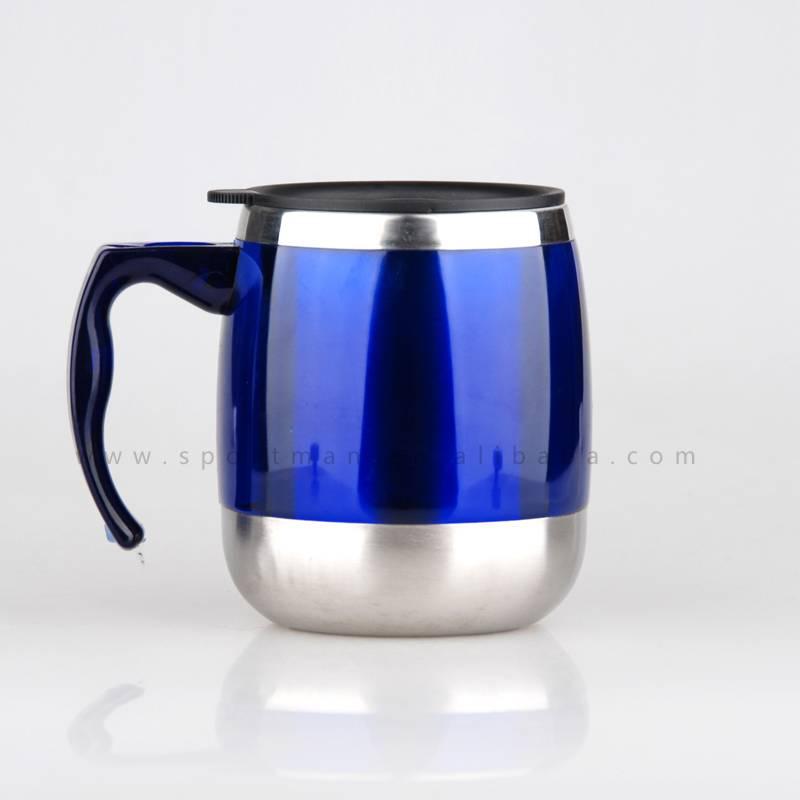 Promotional gift 400ml Stainless steel mug,plastic travel mug wholesale