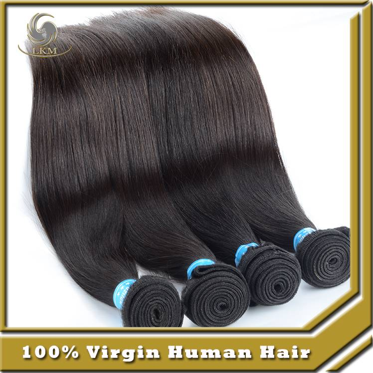 Hot sell virgin brazilian hair straight weave