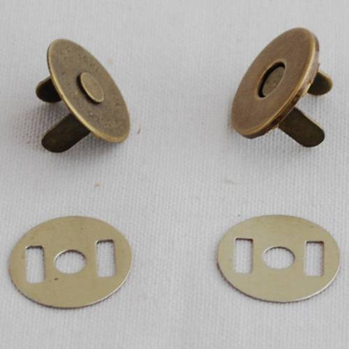 Nickel/brass extra thin magnetic button,magnetic snap fastener