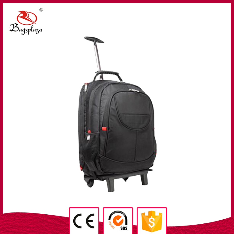 New arrival bagsplaza men's laptop bag with wheels trolley backpack