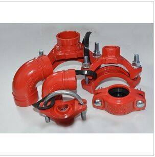 FM/UL/CE/3C Approved Ductile Iron Rigid Coupling