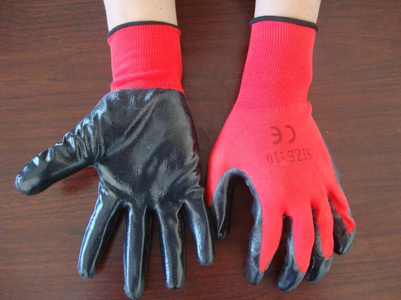 13G nitrile coated glove