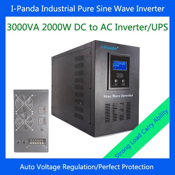 Stock I-P-XD-3000VA solar inverter 2000w power inverter 2000w 24v solar power system pure sine wave