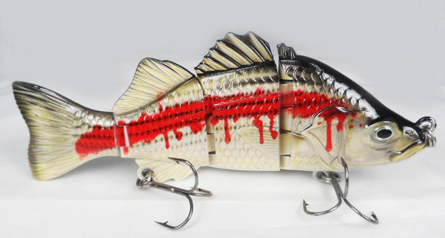 4 section bass Hard Simulation fishing lures