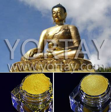 New product/Temple Building Light Gold Pearl Pigment