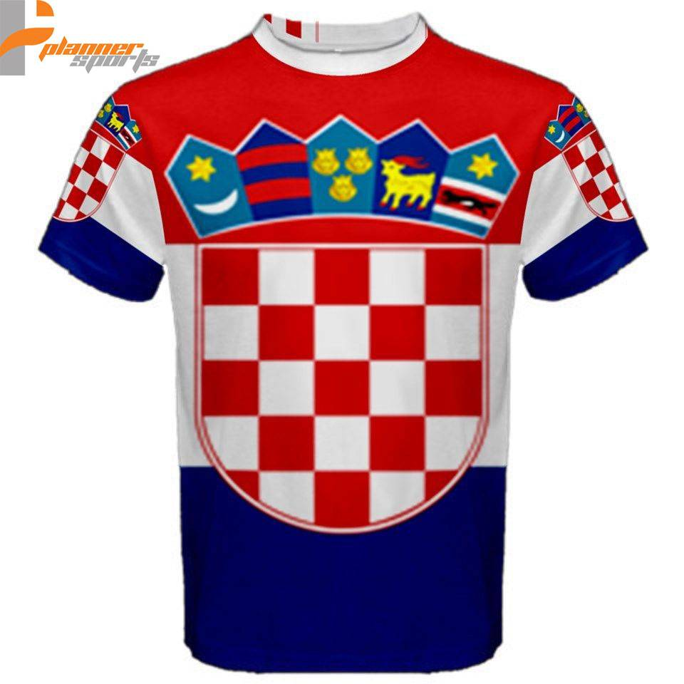 Croatia Croatian Flag Sublimated Sublimation T-Shirt S,M,L,XL,2XL,3XL
