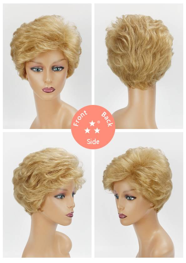 Female / Synthetic Wig Style No. 2195 124/Short/Wave/Hotsale