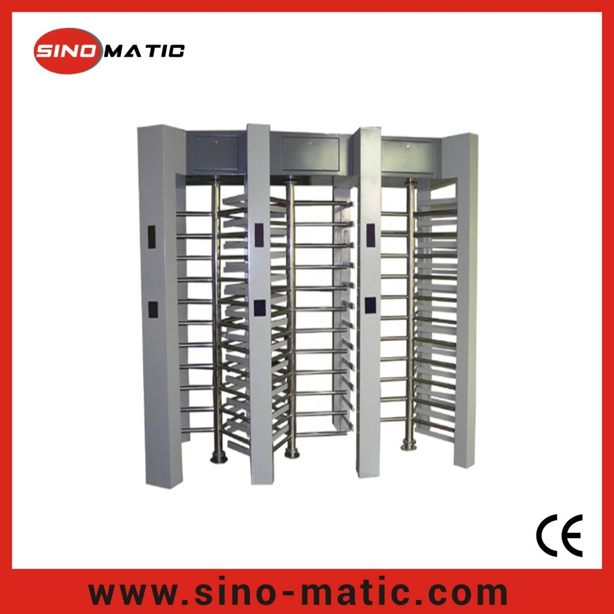 304 Stainless Steel Crowd Control Access Control RFID Card Full Height Turnstile