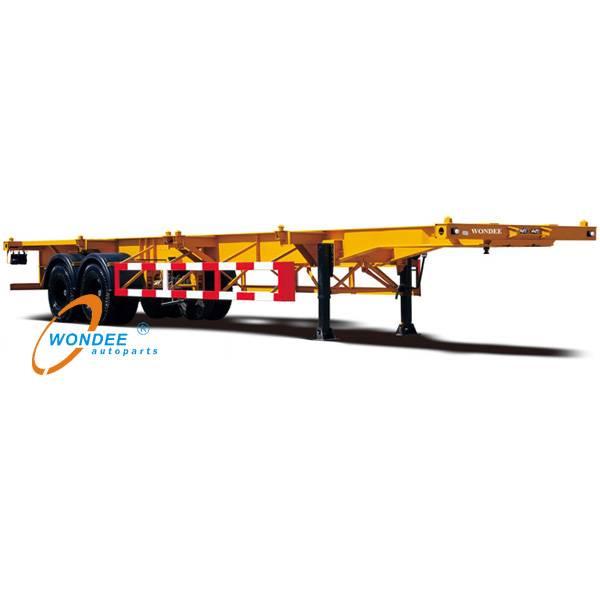 2 axle 40ft skeletal semi trailer