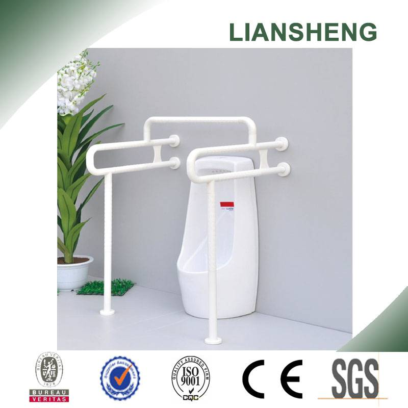 Stainless steel toilet nylon landing grab bar