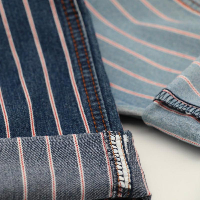 Light Weight Stripe TwillLight Weight Cotton Spandex Stripe Twill