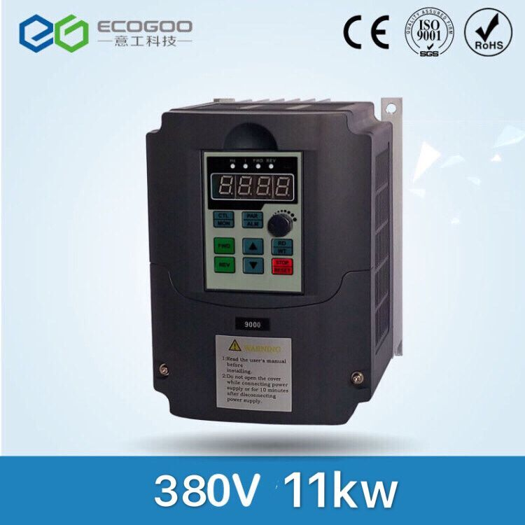 11KW/3 Phase 380V/25A Frequency Inverter-Free Shipping-Ecogoo vector control 11KW Frequency inverter