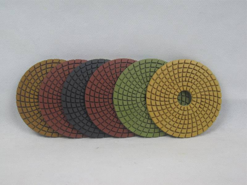 inch/100mm diamond wet polishing pad for stone granite marble