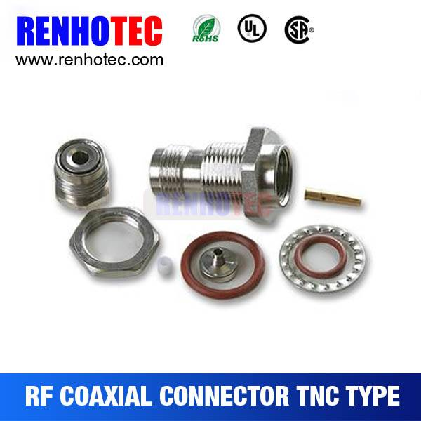 TNC Male Connector Straight For Cable Copper