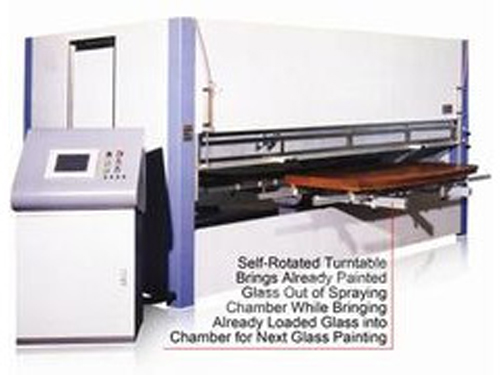 Gun Spray Glass Painting Machine