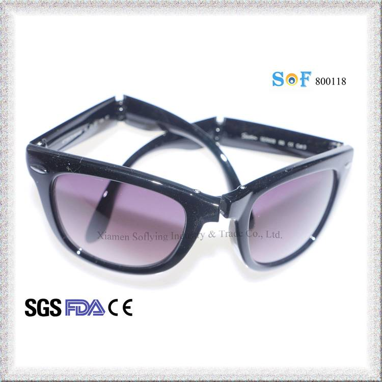 Promotion Cheap Classic Fashion Design Vintage Unseix Folding Sunglasses
