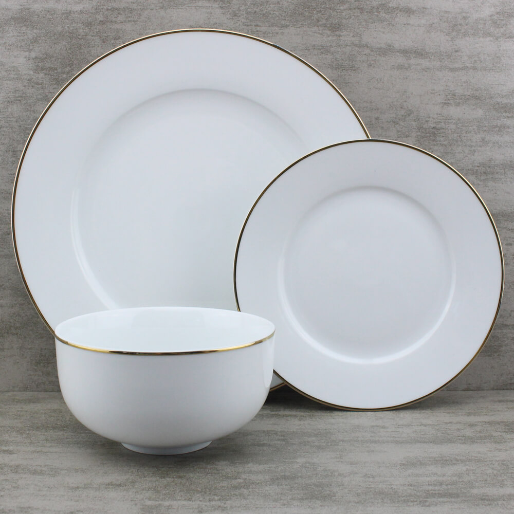 gold rimmed plates wholesale