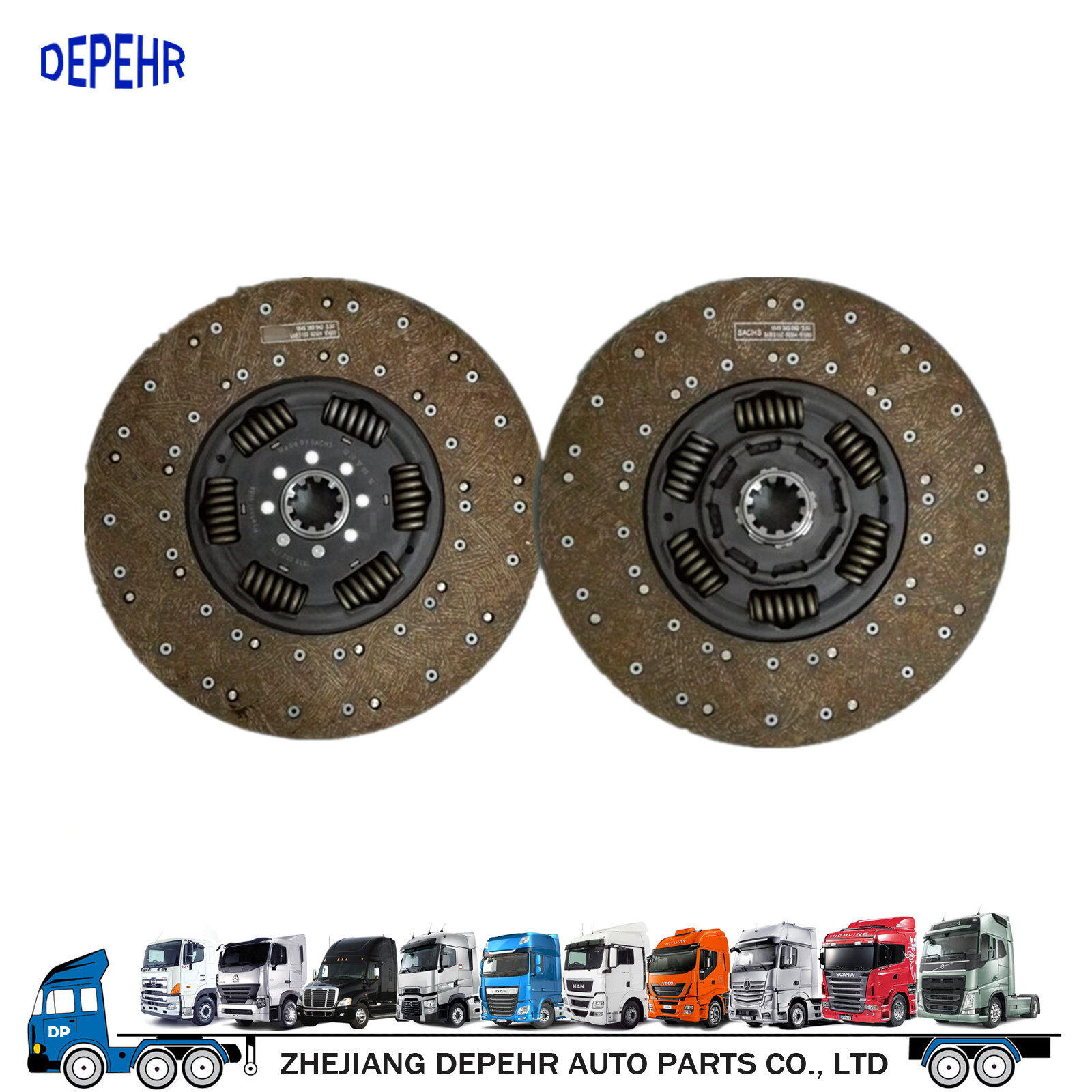 OEM 1878002139 Heavy Duty European Tractor Clutch Disc MAN F2000 Truck Clucth Friction Plate