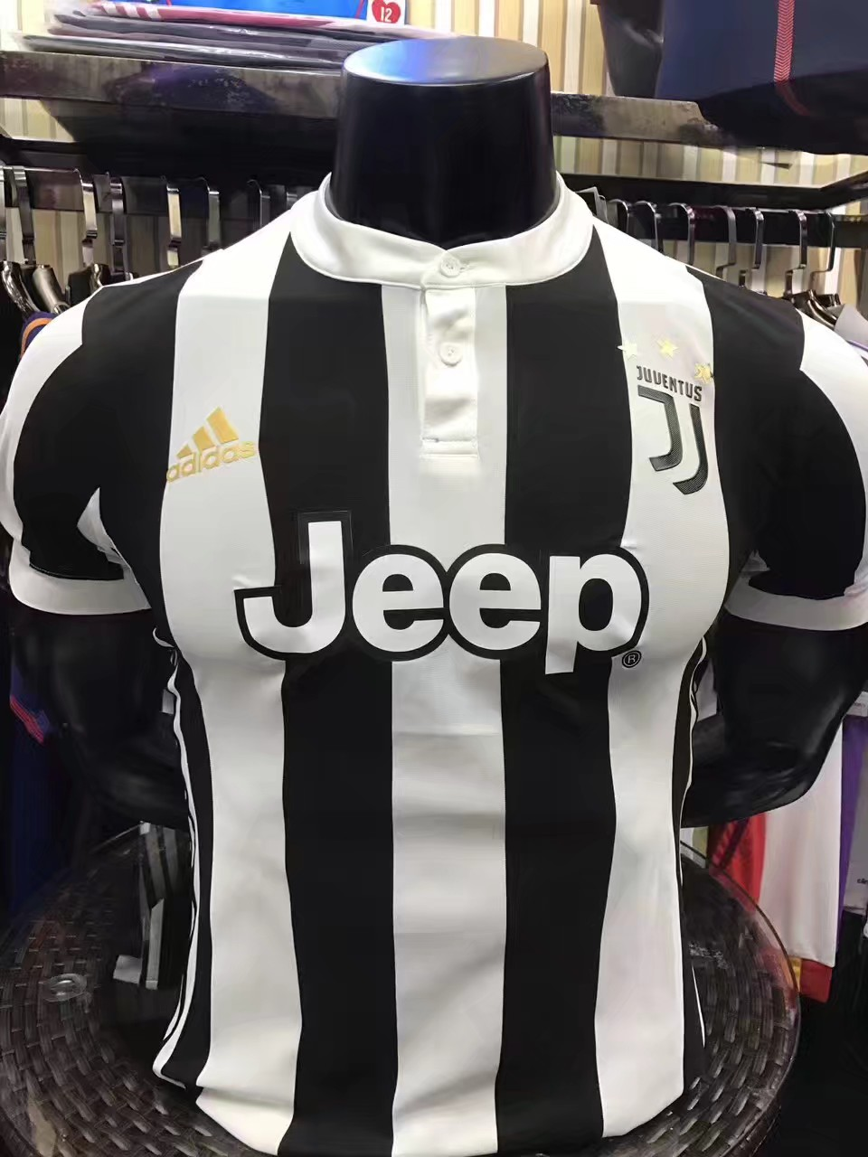 2017-2018 Juventus Home team Player Jersey(slim fit)