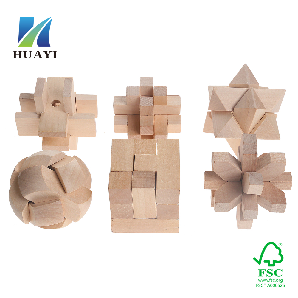 wholesale wooden 3d puzzle toy