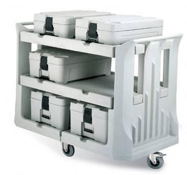 rotomolding food transfer trolley