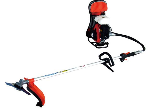 Knapsack brush cutter