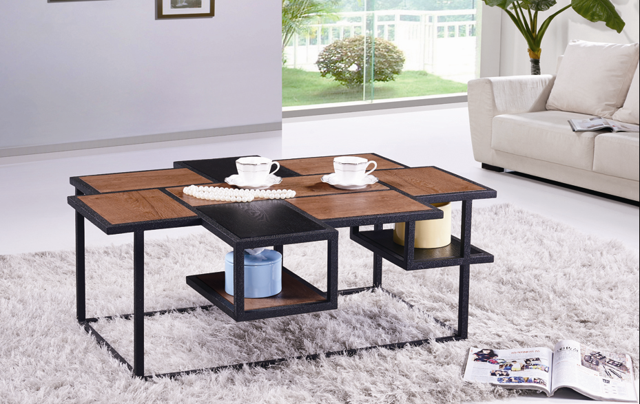 SHIMING FURNITURE MS-3373 modern design square wooden(MDF) top classic coffee table