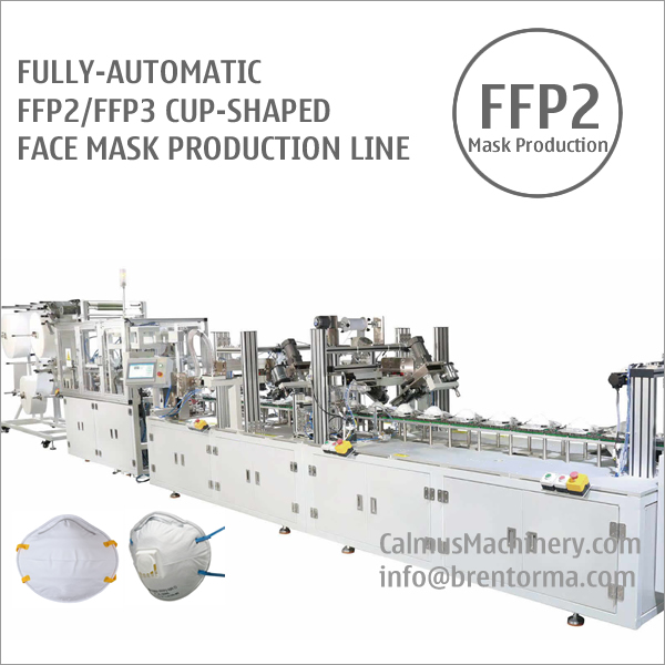 Fully-automatic FFP2 Cup Respirator Mask Making Machine Production Line