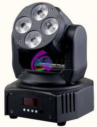 led mini moving head wash light 4*6in1 RGBWA UV