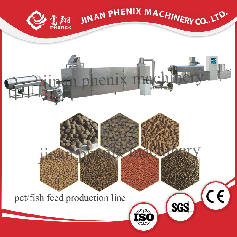 dry floating fish food double screw extruder machine