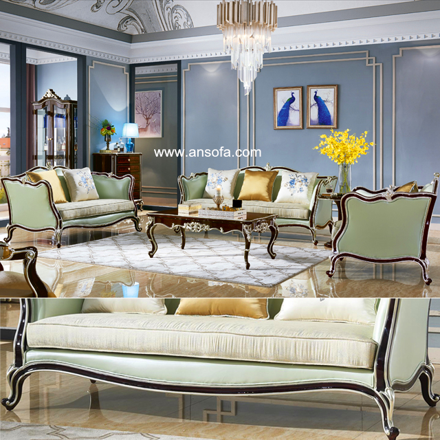 Wood Sofa Set for Living Room Furniture (103)