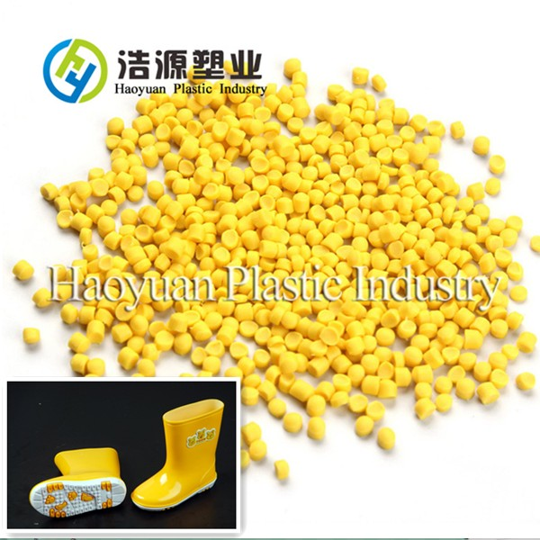Yellow Soft PVC Granules for Injection Gumboots