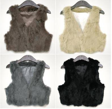 rabbit fur scrap vest