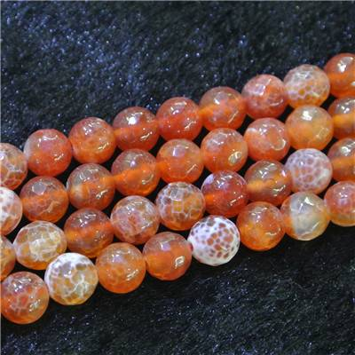 Red Fire Agate Beads