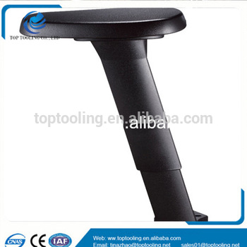 Plastic armrest office chair furniture with metal parts