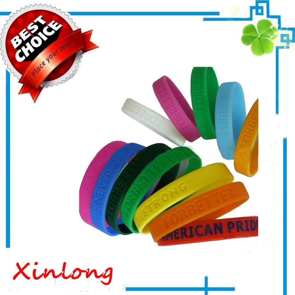 2016 hot sell cheap custom silicone bracelet ,Customize all kinds of silicone bracelet