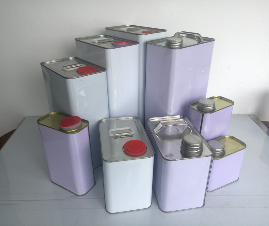 F style square tin can