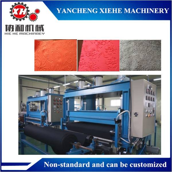 Pneumatic 3D embossing machines for textile