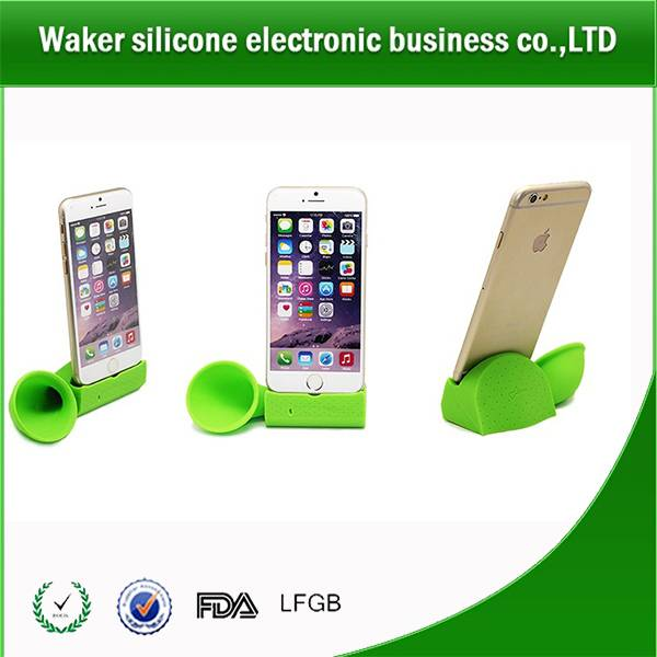 Silicone phone music amplifier