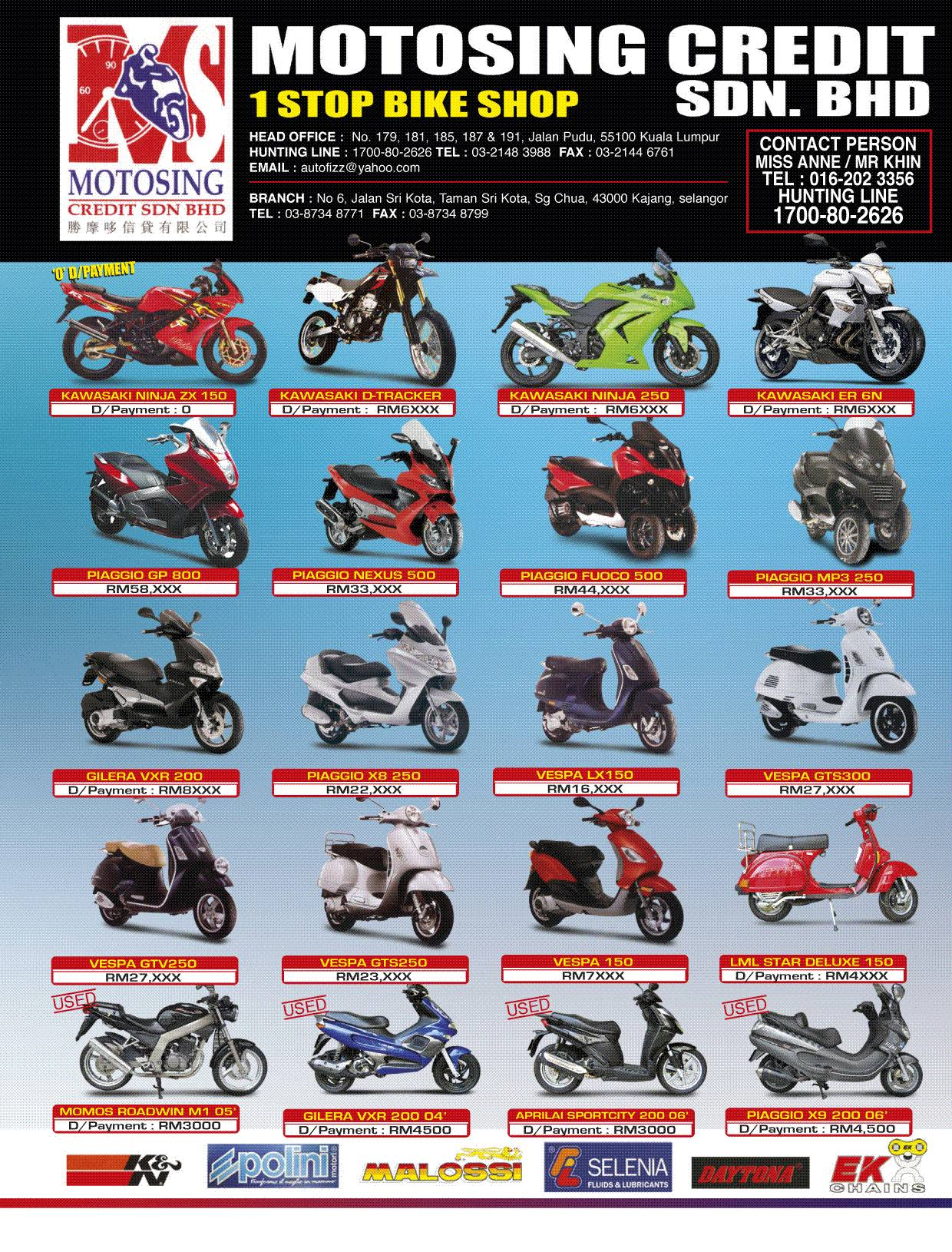 MOTORCYCLES FOR SALES