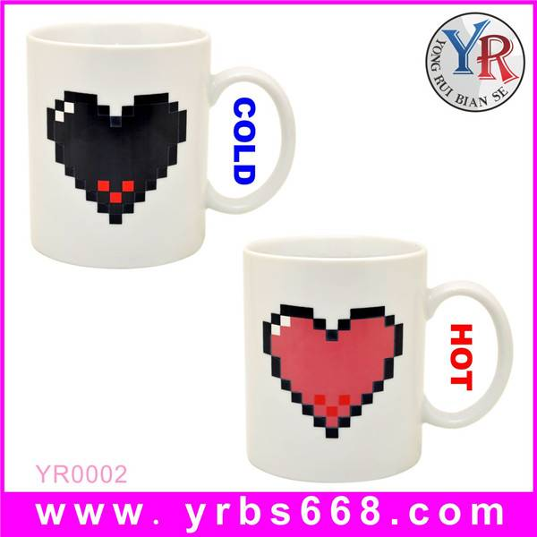 Custom Design Color Changing Ceramic Mug for Special Gift