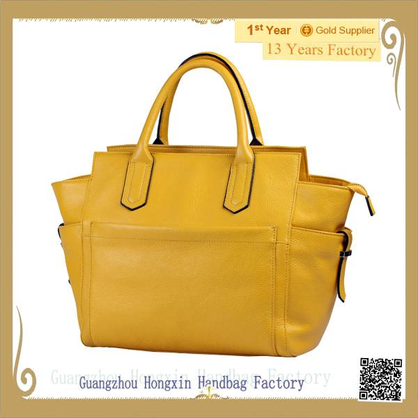 New summer design genuine leather handbag for ladies