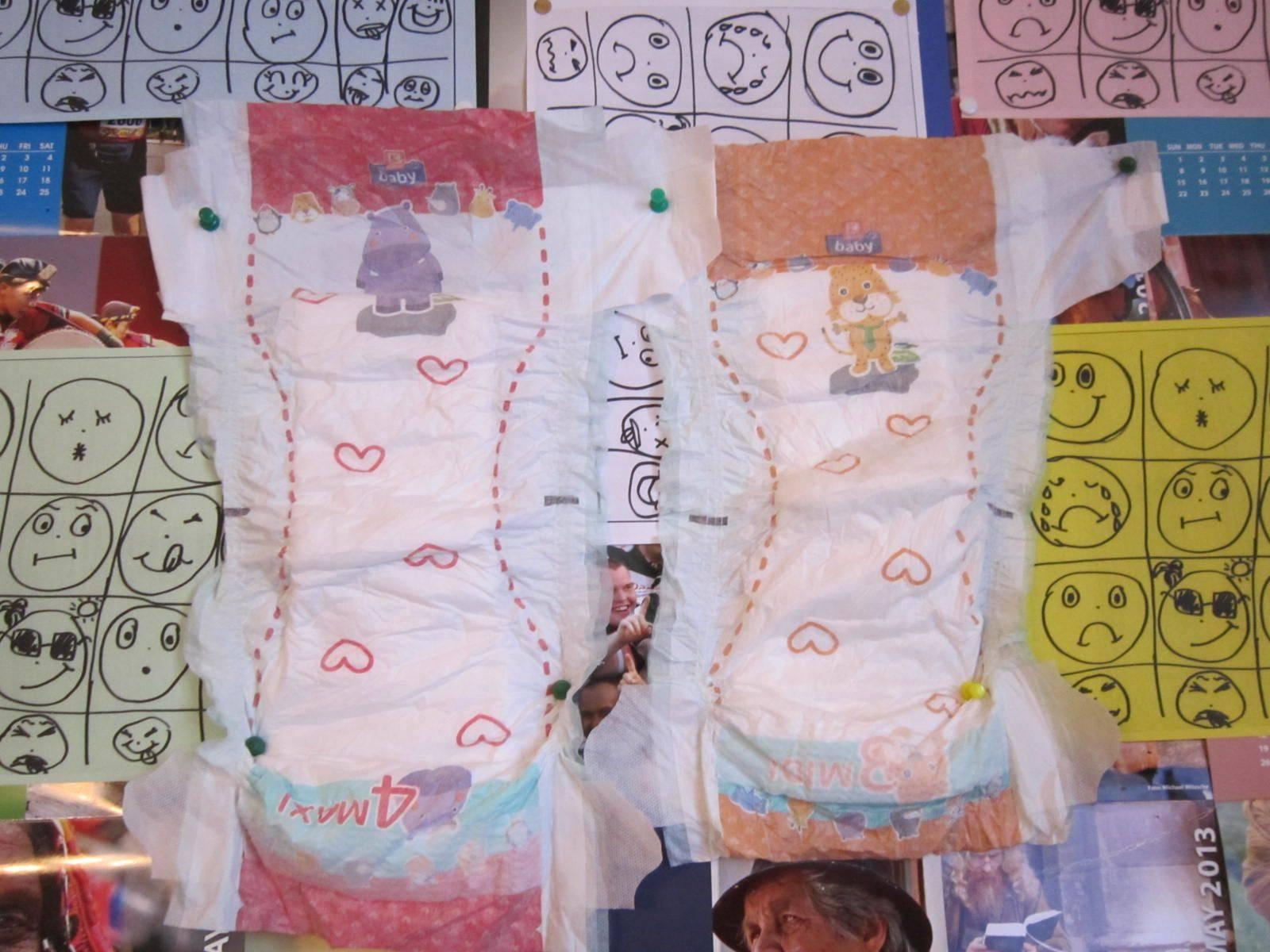 B grade baby diaper bales
